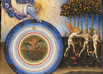 "Painting by Giovanni di Paolo of ""The Creation of the World and the Expulsion from Paradise"""