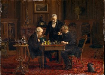 Image of the painting The Chess Players by Thomas Eakins