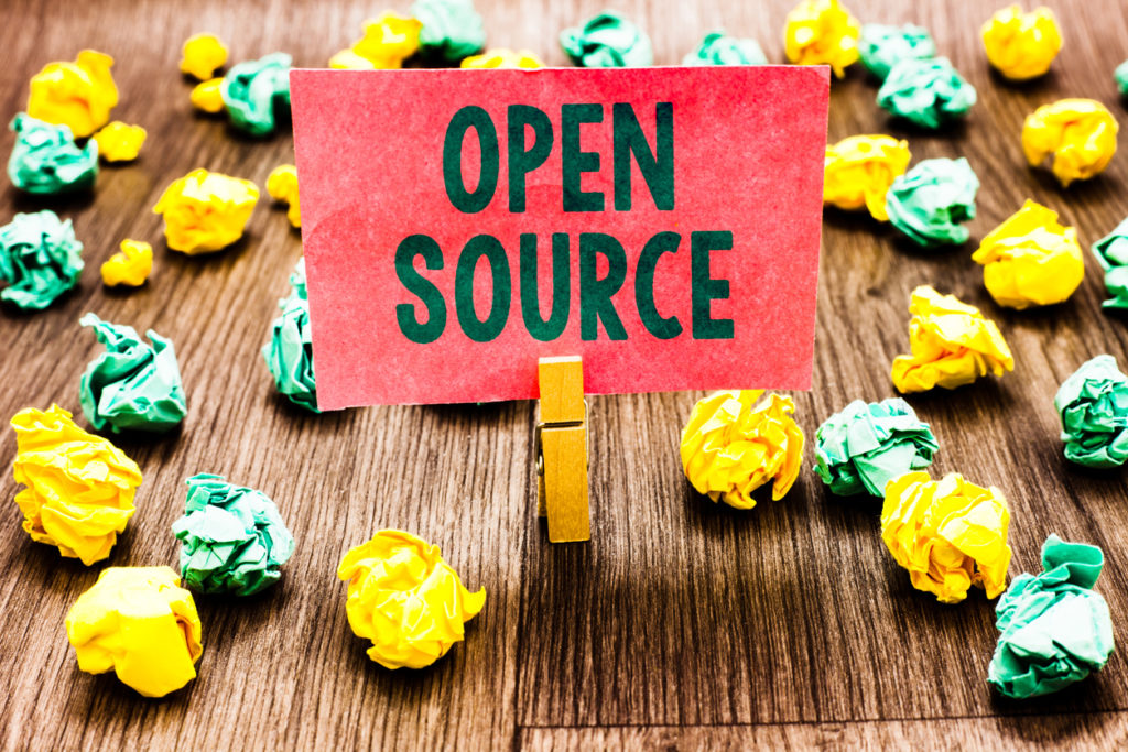 "Note reading ""open source"""