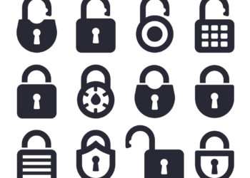 Lock and security icons and symbols collection.